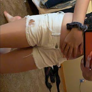 white short shorts